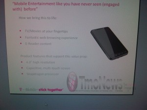Slide: HTC HD2 on T-Mobile USA