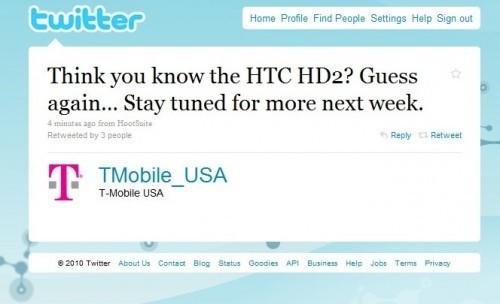T-Mobile HD2 Twitter