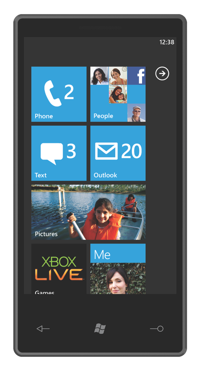 Windows Phone 7 Series Start Screen