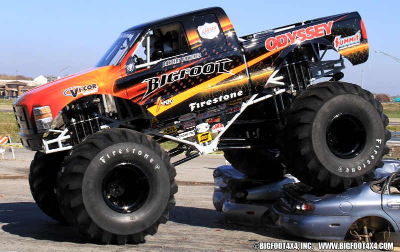 bigfoot monster truck goes electric techautos. Black Bedroom Furniture Sets. Home Design Ideas