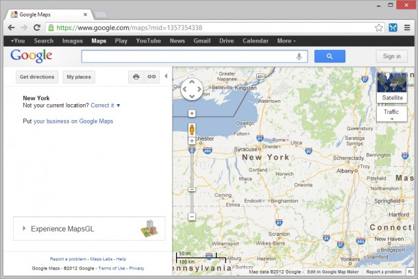 Google Maps in Chrome