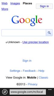 Google Maps WP8 Redirect