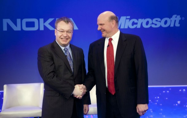 In February 2011, Nokia CEO Stephen Elop and Microsoft CEO Steve Ballmer announced a strategic partnership: Nokia would adopt the Windows Phone OS; now Elop will return to Microsoft to head its Devices business