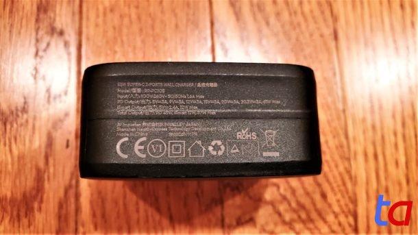 RAVPower 61W USB-C Charger - Bottom